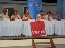 Die Referenten der Podiumsdiskussion