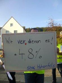 Beschäftigte in Hohenfels fordern Arbeitgeberangebot