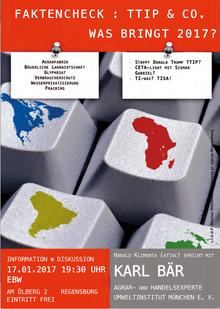 Diskussionsveranstaltung: TTIP & Co. - was bringt 2017?