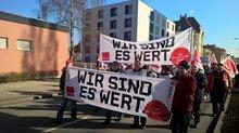 Warnstreiks in der Oberpfalz am 14.2.2017