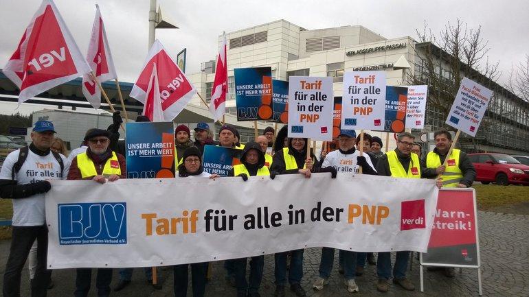 Erneuter Warnstreik bei der Passauer-Neuen-Presse ein voller Erfolg