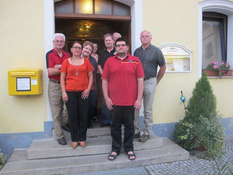 v.l.n.r.:Werner Neumüller / Manuela Dietz / Monika Selch / Christa Bauer / Gerd Beitz / Josef Bauer / Thomas Beitz (Vorsitzender) / Josef Steger