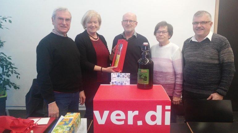 Senioren von Post und Telekom gratulieren zum 65. Geburtstag