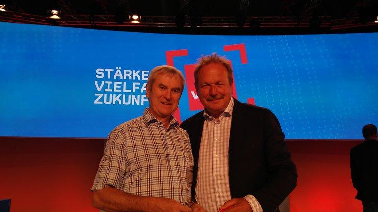 Für die Senioren überbrachte Manfred Haberzeth die Glückwünsche zur Wiederwahl