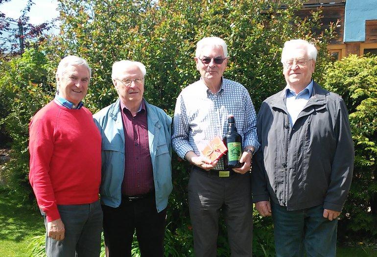 ver.di Senioren gratulieren Werner Neumüller zum 70. Geburtstag