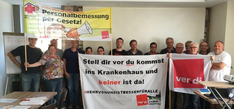 Betriebs- und Personalräte aus der Oberpfalz fordern eine gesetzliche Personalbemessung im Krankenhaus