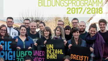 Jugendbildungsprogramm 2017/2018 der ver.di Jugend Bayern