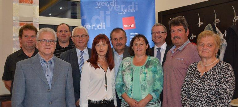 ver.di Ortsverein Nabburg ehrt langjährige Gewerkschaftsmitglieder