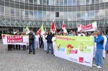 Kundgebung am Universitätsklinikum Regensburg am 27.11.2017