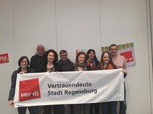 ver.di-Vertrauensleute bei der Stadt Regensburg bereit für die Tarifrunde