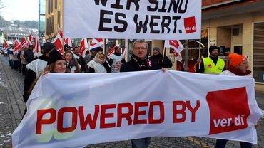 Warnstreiks in Amberg am 19. März 2018