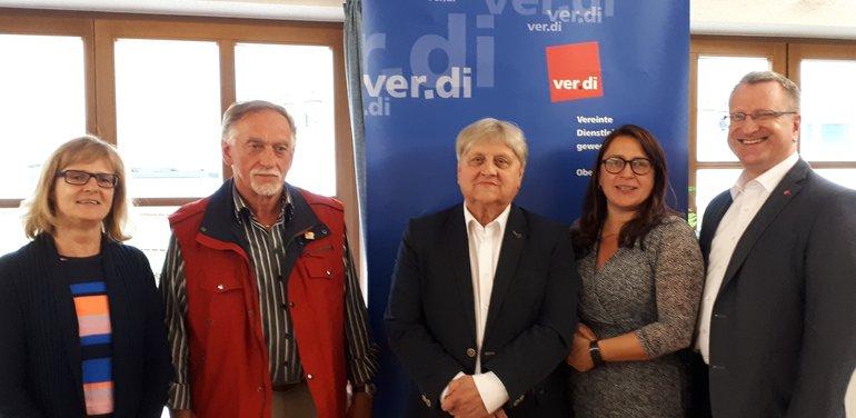 Neuwahlen des ver.di-Regionsvorstands Ortsverein Weiden und Region