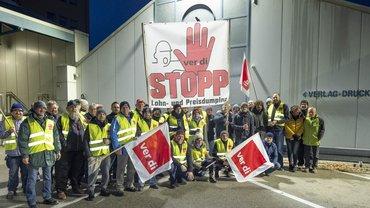 Streik in der Papier- und Kunststoffverarbeitung
