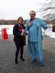 Aktive Mittagspause an der Uniklinik Regensburg