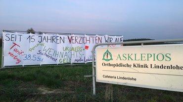 Asklepios Lindenlohe: 98,7% für Arbeitskampf