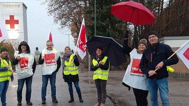 Streik bei Asklepios in Lindenlohe, erfolgreicher Auftakt am 13.11.2019