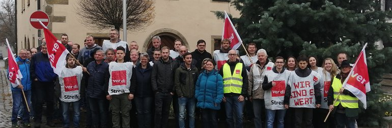 Warnstreik in Grafenwöhr und Vilseck bei den Zivilbeschäftigten der Stationierungsstreitkräfte am 26.11.2019