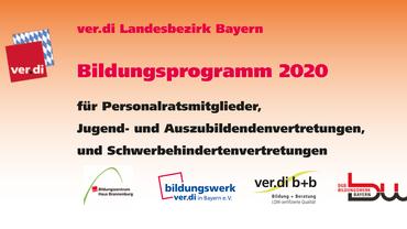 Bildungsprogramm 2020 für Personalratsgremien, Schwerbehindertenvertretungen, Jugend- und Auszubildendenvertretungen