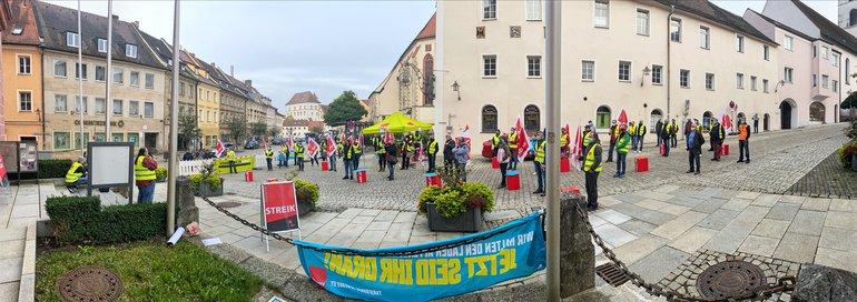 Warnstreik in Sulzbach-Rosenberg am 02.10.2020