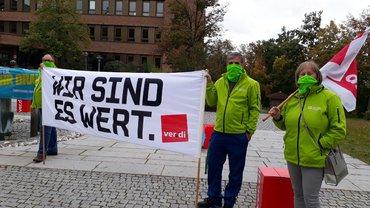 Kundgebung am 07.10.2020 in Schwandorf vor dem Landratsamt