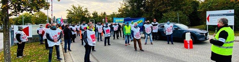 Warnstreik im öffentlichen Dienst in Regensburg am 13. Oktober 2020